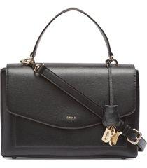 dkny lex leather top handle satchel, created for macy's
