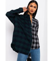 akira on my block long sleeve button up plaid top