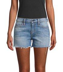 gemma mid-rise denim cut-off shorts
