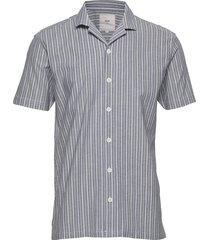 emanuel kortärmad skjorta blå minimum
