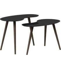 conjunto de mesa feijão pinoquio preto