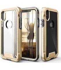 estuche protector zizo ion iphone x/xs - dorado