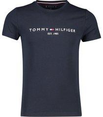 tommy hilfiger t-shirt ronde hals navy met logo