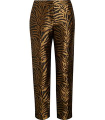 animal jacquard silk pants