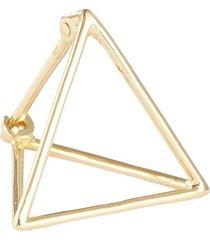 'triangle' 18k yellow gold pyramid single earring - 15mm