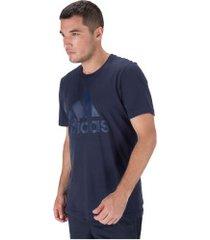camiseta adidas mh bos - masculina - azul escuro