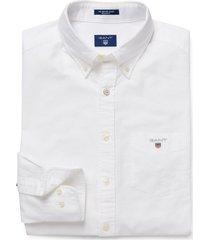 gant heren overhemd button-down oxford regular fit wit