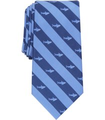 club room men's classic shark stripe tie, created for macy's