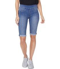 women's nydj pull-on denim bermuda shorts