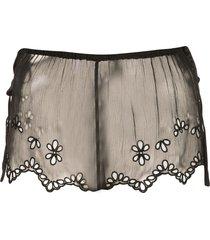 kiki de montparnasse sheer lace shorts - black