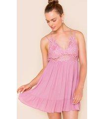 women's adriana bralette mini dress in blush by francesca's - size: m