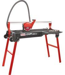 cortador elétrico de piso e porcelanato 900w 220v zapp 200 g2 vermelho e preto
