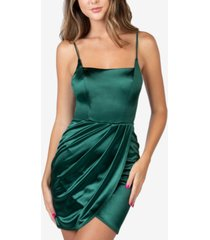 b darlin juniors' sleeveless satin sheath dress
