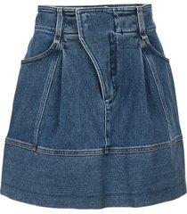 chloé chloe denim mini skirt