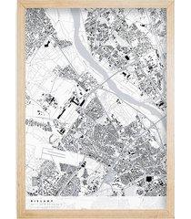 bielany - mapa dzielnicy, plakat