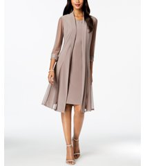 r & m richards embellished dress & duster jacket