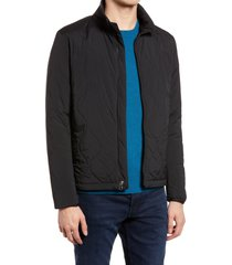 men's rag & bone agnes quilted jacket, size xx-large - black