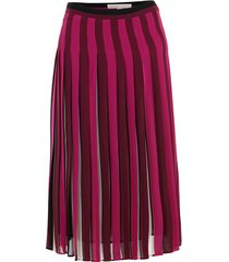 pleated stripe skirt