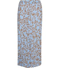 onlalma poly plisse skirt aop wvn knälång kjol blå only