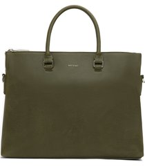 matt & nat alban briefcase, olive