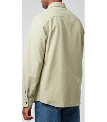 a.p.c. men's trek shirt - almond green - xl