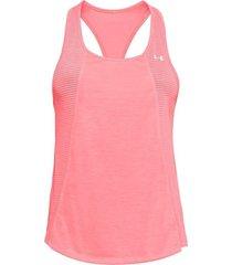 camiseta sin mangas mujer under armour w threadborne fashion tank-rosa
