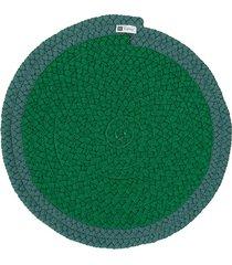 jogo americano orbis uniborder green 6 pecas - 36x36