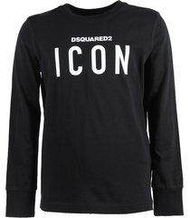 "black ""icon"" cotton jersey t-shirt"