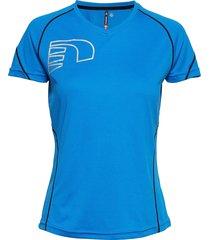 core coolskin tee t-shirts & tops short-sleeved blå newline