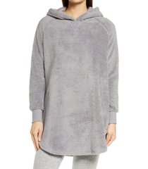 women's bp. cozy tunic hoodie, size x-small - grey