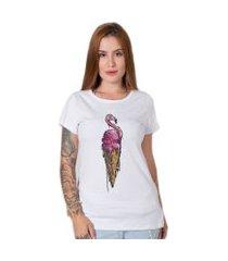 camiseta  sweet pink branco