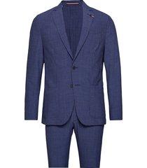washable seersucker slim suit kostym blå tommy hilfiger tailored