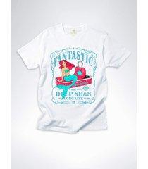 camiseta surf cool tees sereias em conserva branco