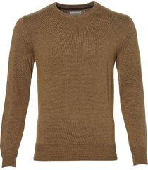 sale - hensen pullover - slim fit - bruin