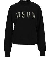 msgm sheer-logo sweatshirt