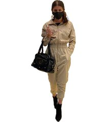 overol impermeable beige