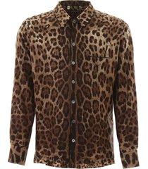 dolce & gabbana leopard pajama shirt