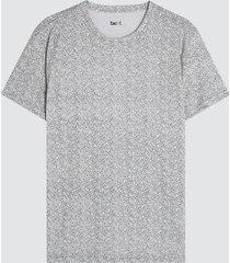 camiseta para hombre mini hojas color blanco, talla l