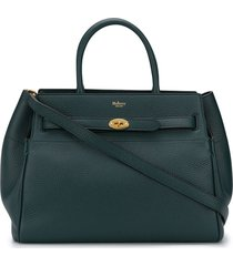 mulberry bayswater belted tote bag - green