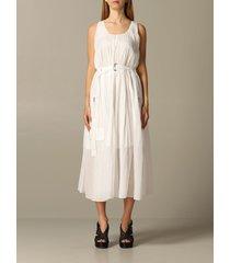 armani exchange dress armani exchange pleated dress with belt