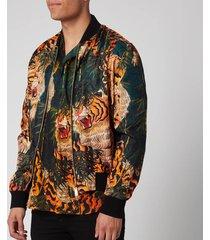 dsquared2 men's classic bomber jacket - green/orange - it 52/xl