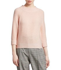lofty rib-knit sweater