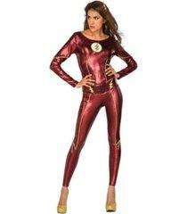 buyseasons women's justice league the flash female adult bodysuit