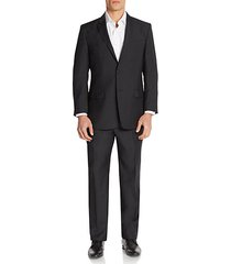 regular-fit tonal pindot wool-blend suit