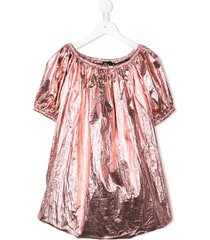 andorine oversized metallic-tone dress - pink