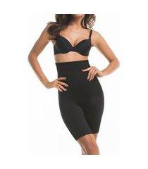 cinta modeladora de perna e cintura alta mondress lingerie preto.