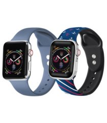 unisex atlantic blue and nautical 2-pack replacement band for apple watch, 38mm
