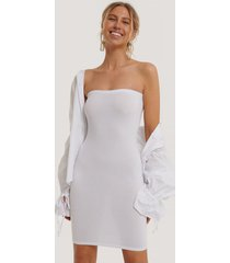 na-kd basic basic jersey bandeau dress - white