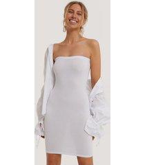 na-kd basic basic jersey bandeau dress - white