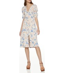 bcbgeneration spring floral-print puff-sleeve dress